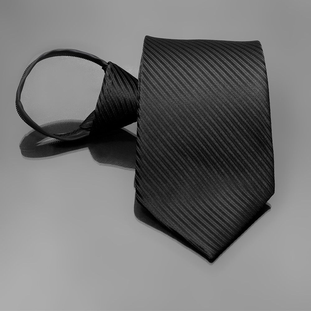 เนคไท ไม่ต้องผูก แบบซิป Men Zipper Tie Lazy Ties Fashion 8cm Business Necktie For Man Skinny Slim Narrow Bridegroom Party Dress Wedding Necktie Present
