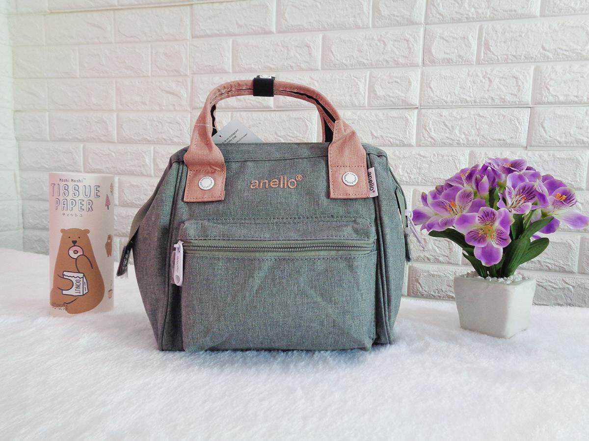 สินเชื่อบุคคลซิตี้  สงขลา กระเป๋า Anello รุ่น 2 WAY Polyester Mini Classic bag มี 2 สี สีเทาพาสเทล  สีดำ