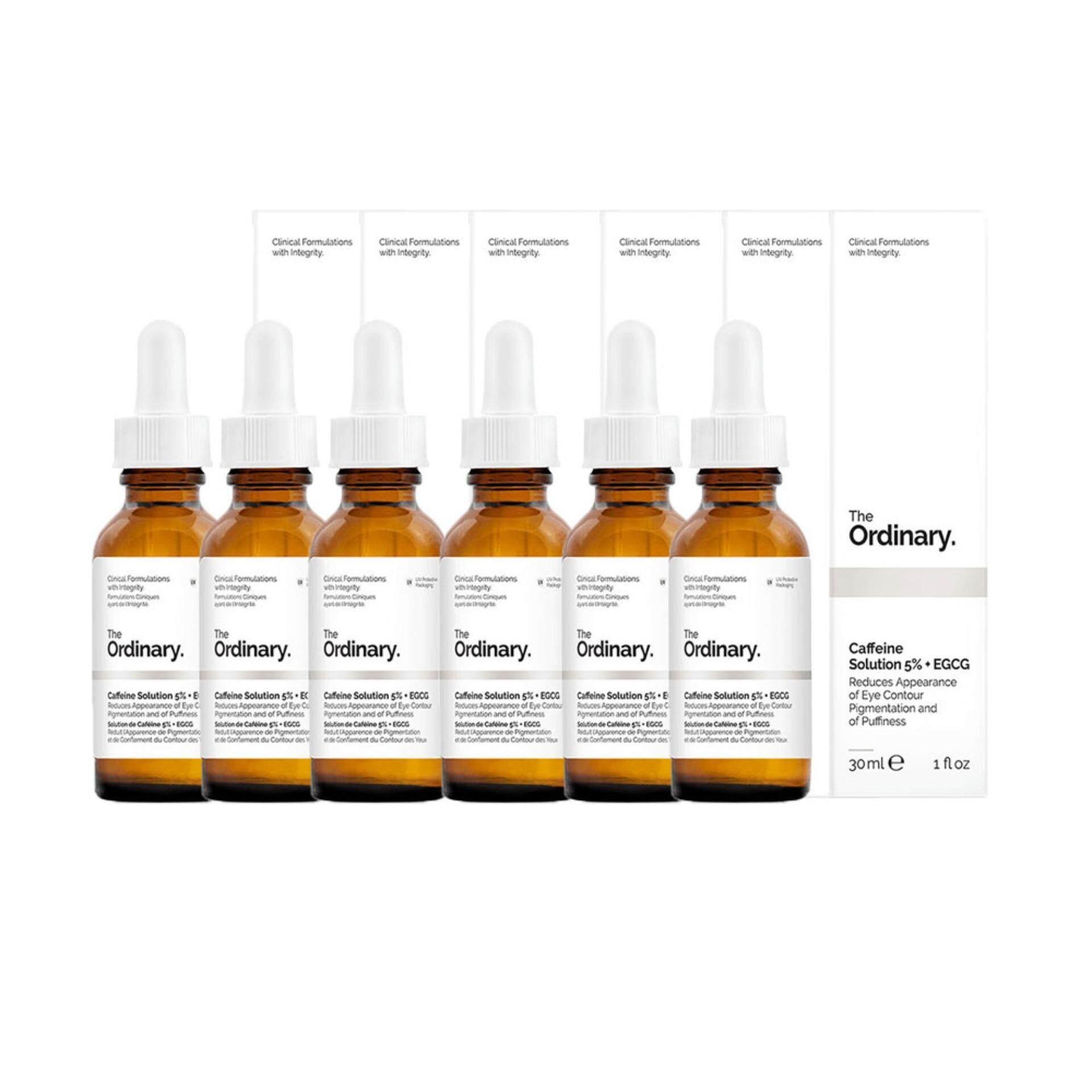 The Ordinary Caffeine Solution 5% EGCG กระชับผิวบริเวณรอบดวงตา ลดความดำคล้ำให้ดูสดใสขึ้น 30ml 6 กล่อง