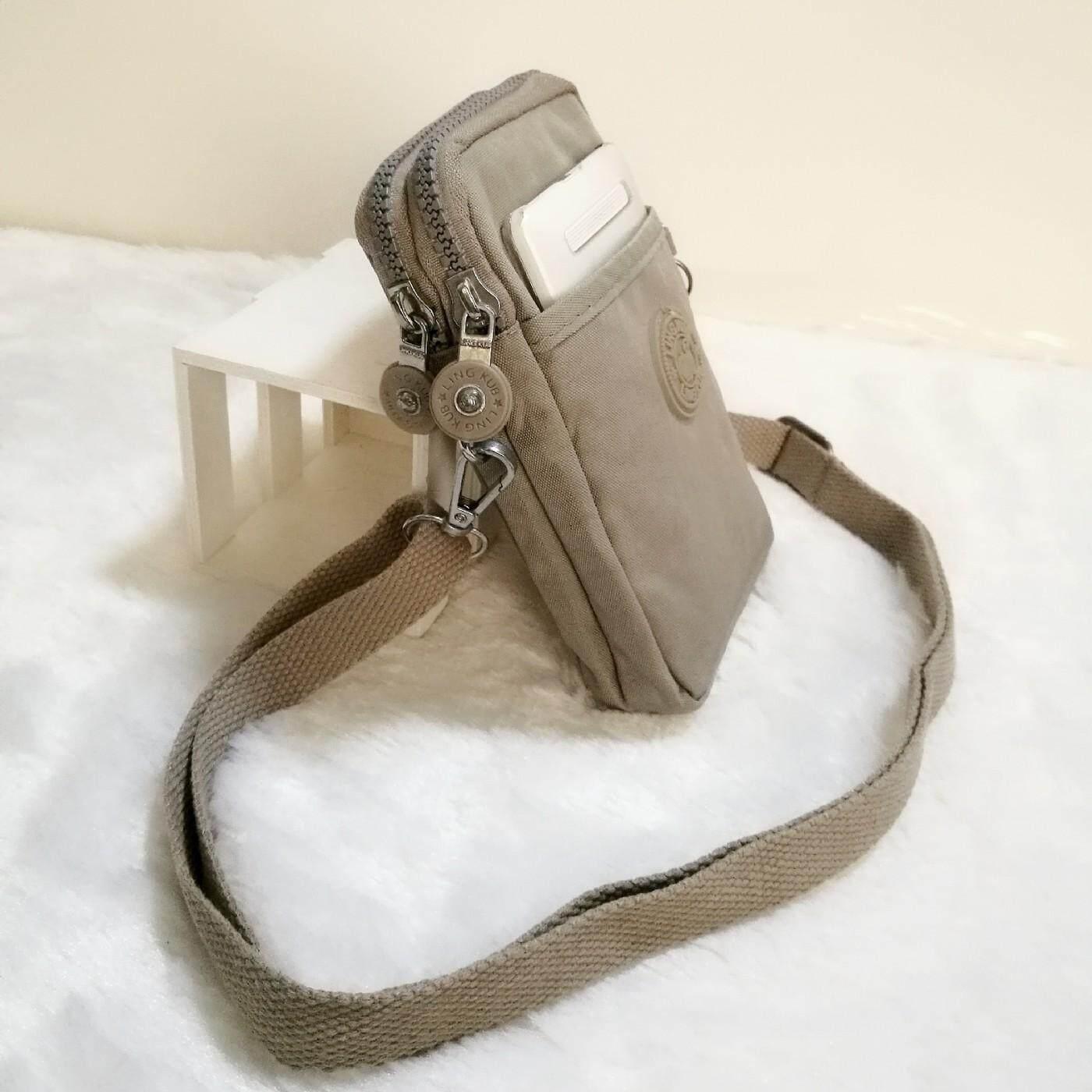 กระเป๋าสะพายพาดลำตัว นักเรียน ผู้หญิง วัยรุ่น กระบี่ Ling Kub ส่งด่วนส่ฟรี กระเป๋าสะพายข้างใบเล็ก3ชั้น คาดเข็มขัดได้ ผ้ากันน้ำ ขนาด10x17x3cm รุ่น ฺMLKB002 เลือกสีได้