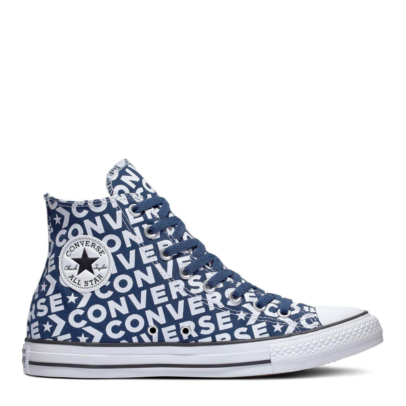 ยี่ห้อไหนดี  พิษณุโลก CONVERSE CHUCK TAYLOR ALL STAR - HI - NAVY/WHITE/WHITE - UNISEX   - NAVY/WHITE/WHITE - 163952C