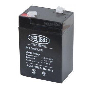 DELIGHT แบตเตอรี่ แห้ง 6V 4.5AH