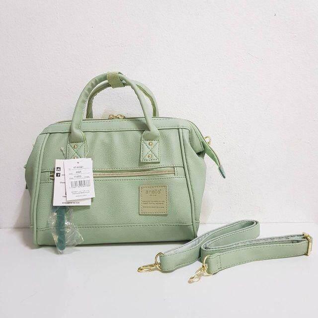 บัตรเครดิต ธนชาต  แม่ฮ่องสอน Anello 2-way PU Leather Mini  Size : กว้าง 25 สูง 19  หนา 9 cm.