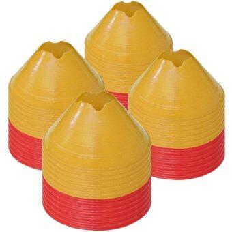 ดีสเทรนเนอร์โคน กรวยซ้อมบอล กรวยฝึกซ้อม มาร์กเกอร์โคน สีแดงและเหลือง ชุดละ 48 ชิ้น