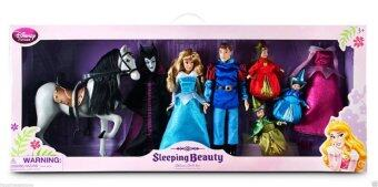 Disney Sleeping Beauty Deluxe Doll Set Aurora Maleficent Phillip Godmother 12\