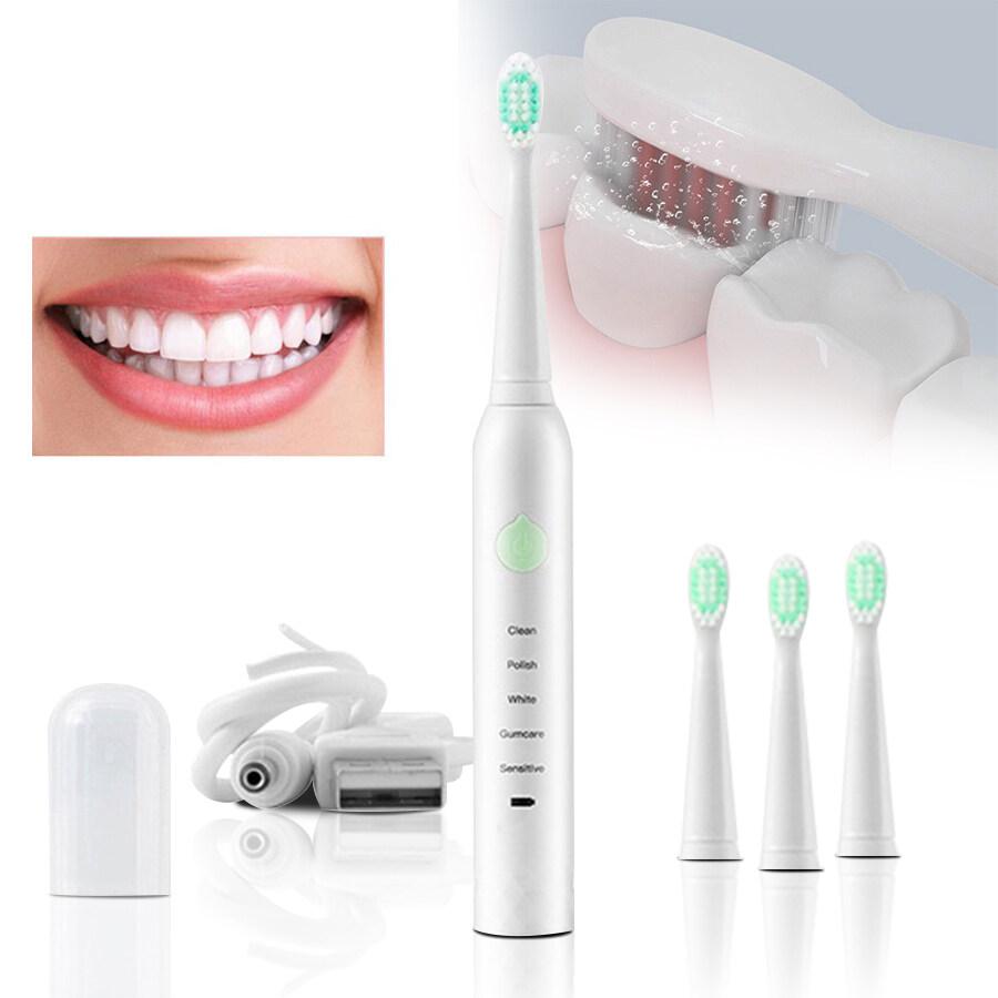 ชลบุรี The Well แปรงสีฟันไฟฟ้า แปรงสีฟันไฟฟ้าไร้สาย โหมด 5 หัวแปรงขนนุ่ม แปรงสีฟัน แปรง แปรงสีฟันไฟฟ้าอัจฉริยะ แปรงฟันอัตโนมัติ แปรงสีฟันไฟฟ้าด้ามจับ แปรงสีฟันไฟฟ้าโซนิค 100  กันน้ำ ระบบอัลตราโซนิก เปลี่ยนหัว 4 Electric