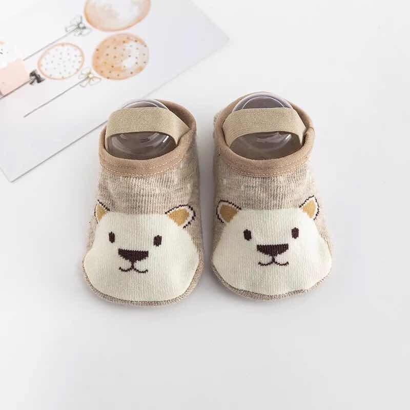 Babyonline(Y268)K1ถุงเท้าเด็กหัดเดินลายการ์ตูนน่ารักๆมีสายรัด