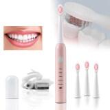 แปรงสีฟันไฟฟ้า ทำความสะอาดทุกซี่ฟันอย่างหมดจด เชียงราย Oliver Mart แปรงสีฟันไฟฟ้า แปรงสีฟันไฟฟ้าไร้สาย โหมด 5 หัวแปรงขนนุ่ม แปรงสีฟัน แปรง แปรงสีฟันไฟฟ้าอัจฉริยะ แปรงฟันอัตโนมัติ แปรงสีฟันไฟฟ้าด้ามจับ แปรงสีฟันไฟฟ้าโซนิค 100  กันน้ำ ระบบอัลตราโซนิก เปลี่ยนหัว 4 Electric