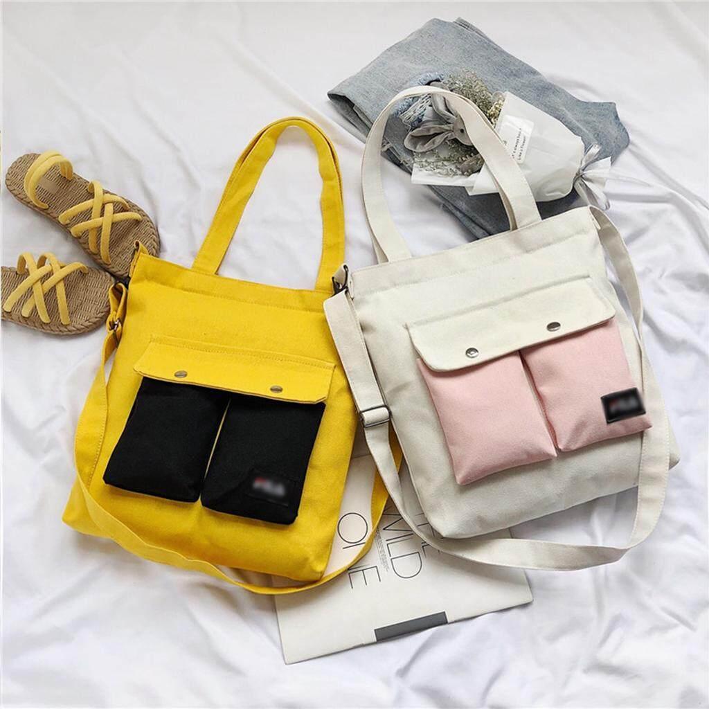 กระเป๋าสะพายพาดลำตัว นักเรียน ผู้หญิง วัยรุ่น แม่ฮ่องสอน กระเป๋าสะพายข้างผ้าแคนวาสfashion B1009