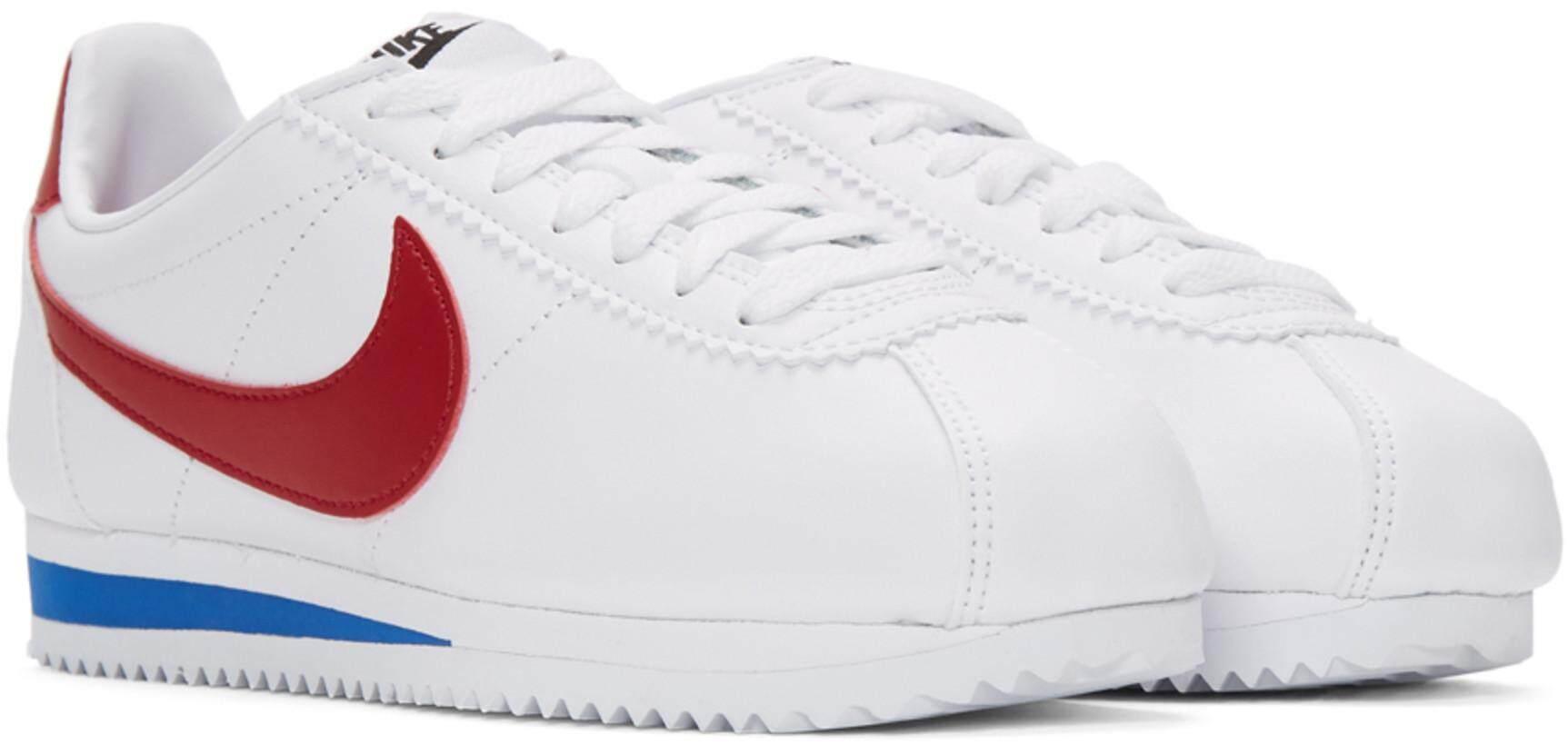 ยี่ห้อไหนดี  ภูเก็ต Nike White Leather Classic Cortez Sneakers  ของเเท้