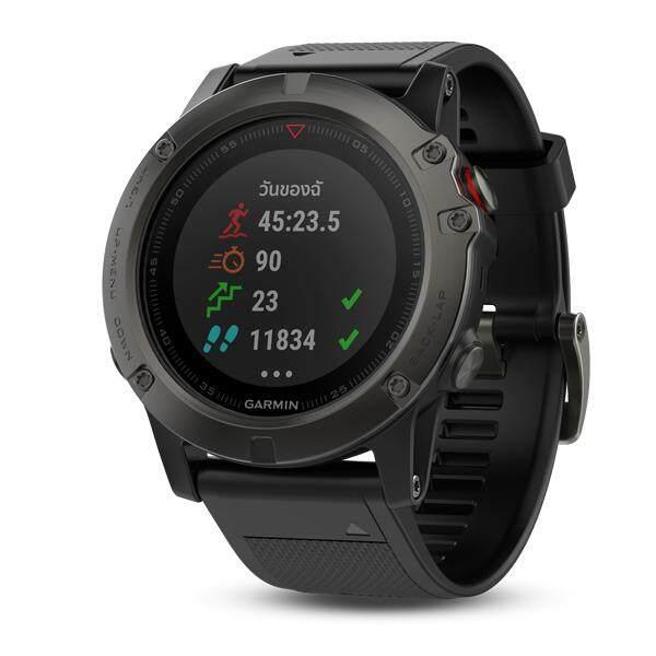 ยี่ห้อนี้ดีไหม  ชัยภูมิ Garmin Fenix 5X นาฬิกา GPS ออกกำลังกาย มีแผนที่ในตัว