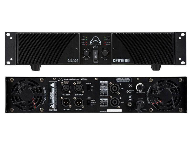 สอนใช้งาน  สมุทรสงคราม WHARFEDALE-PRO CPD-1600 เพาเวอร์แอมป์ แอมป์ พีเอ เครื่องขยายเสียง