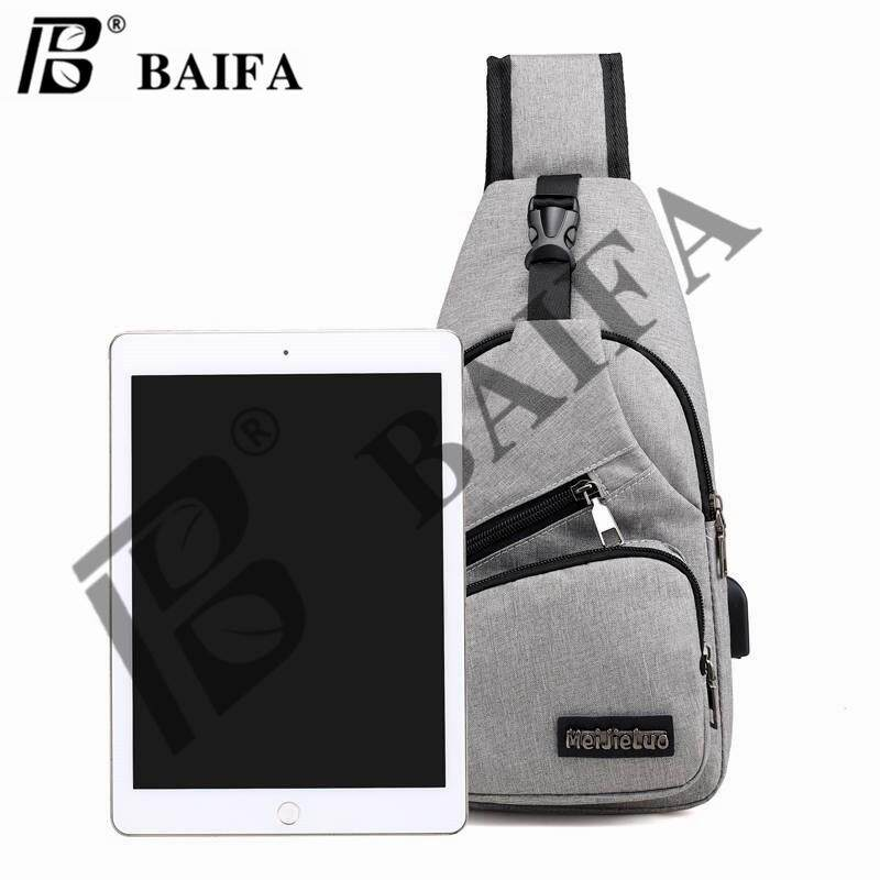 กระเป๋าถือ นักเรียน ผู้หญิง วัยรุ่น อุดรธานี BAIFA SHOP B 85 USB กระเป๋าสะพายสำหรับผู้ชาย Canvas