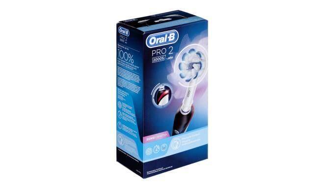 เพชรบูรณ์ แปรงสีฟันไฟฟ้า Oral B รุ้น PRO 2 2000S   Sensi Ultrathin Electric Toothbrush Rechargeable ของแท้จาก Germany