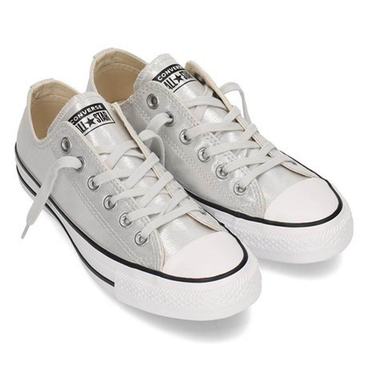 สระบุรี Converse Women Sneaker รองเท้า แฟชั่น ผู้หญิง คอนเวิร์ส รุ่น Chuck Taylor All Star OX มี 2 สี ชมพู/เงิน (2190)