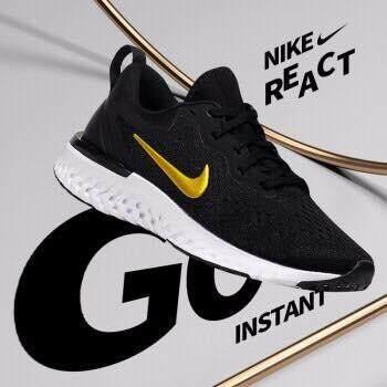 เก็บเงินปลายทางได้ รองเท้าวิ่งไนกี้ Nike รองเท้าผ้าใบ ผู้หญิง Women Running Shoes Odyssey React (รุ่น Limited Gold Logo) ++ลิขสิทธิ์แท้ 100% จาก NIKE พร้อมส่ง ส่งด่วน kerry++