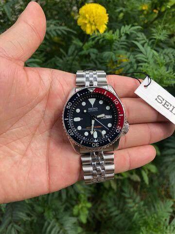 ตราด Seiko 5 นาฬิกาข้อมือ Sports Automatic DIVER 200 M Mens Watch รุ่น SKX009K2 (หน้าปัดน้ำเงินเข้ม)