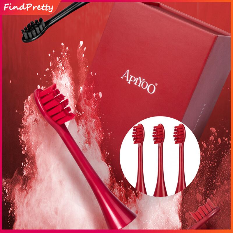 แปรงสีฟันไฟฟ้า รอยยิ้มขาวสดใสใน 1 สัปดาห์ กระบี่ FindPretty หัวแปรงสีฟันไฟฟ้า รุ่น Apiyoo SUP แพค 3 หัวแปรง ของแท้ Electric Toothbrush Replacement Brush Head For Adults