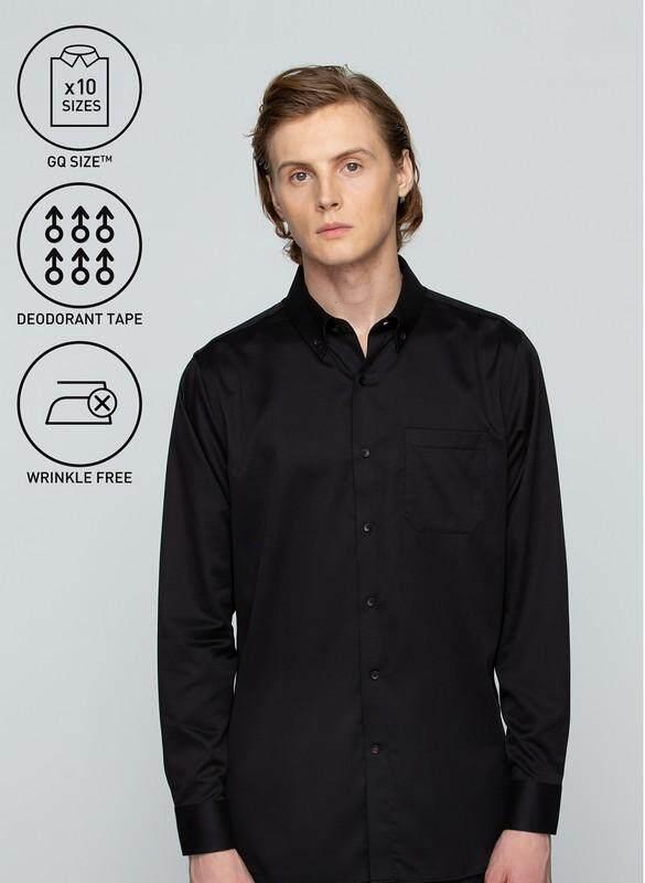 โปรโมชั่น GQWhite  นนทบุรี GQSize เสื้อ Shirt - GQ Shirt Long Sleeve 110-275724 Black