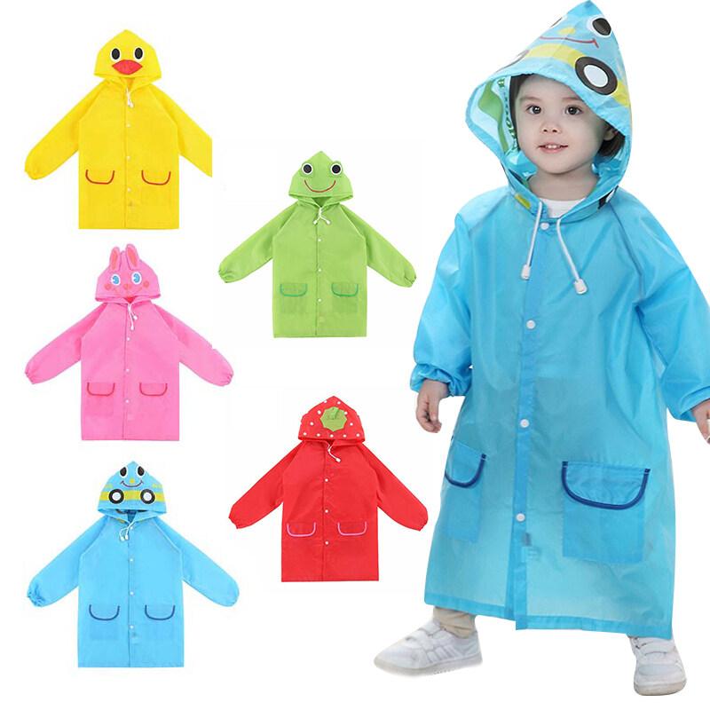 【Ready stock】เสื้อกันฝน ชุดกันฝนเด็ก Cartoon Raincoat ชุดกันฝนเด็กลายการ์ตูน ผ้าดี สีสันสดใส มีหมวกด้วย Outdoor Rain Tools K04