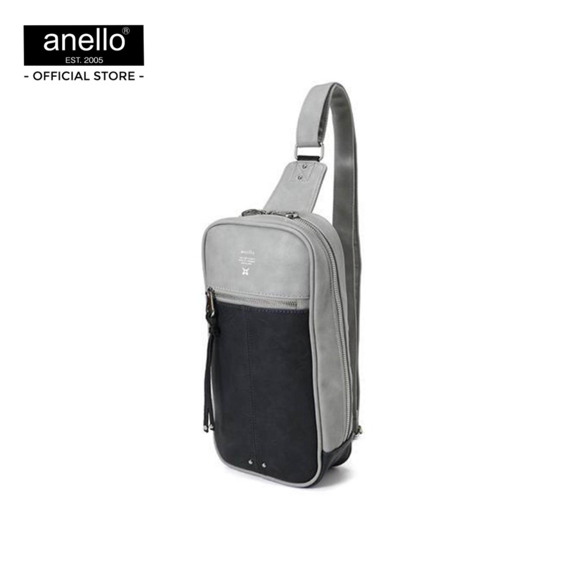 ยี่ห้อไหนดี  บึงกาฬ anello กระเป๋า สะพาย Mini Premium Leather Body Bag_AU-B1515