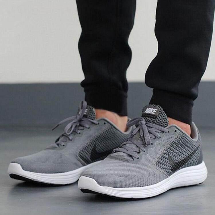 สุดยอดสินค้า!! รองเท้าผ้าใบ ไนกี้ รองเท้าวิ่ง NIKE REVOLUTION SUPREME GREY (รุ่นฮิตหนุ่มฮอต) ++ลิขสิทธิ์แท้ 100% จาก NIKE พร้อมส่ง ส่งด่วน kerry++