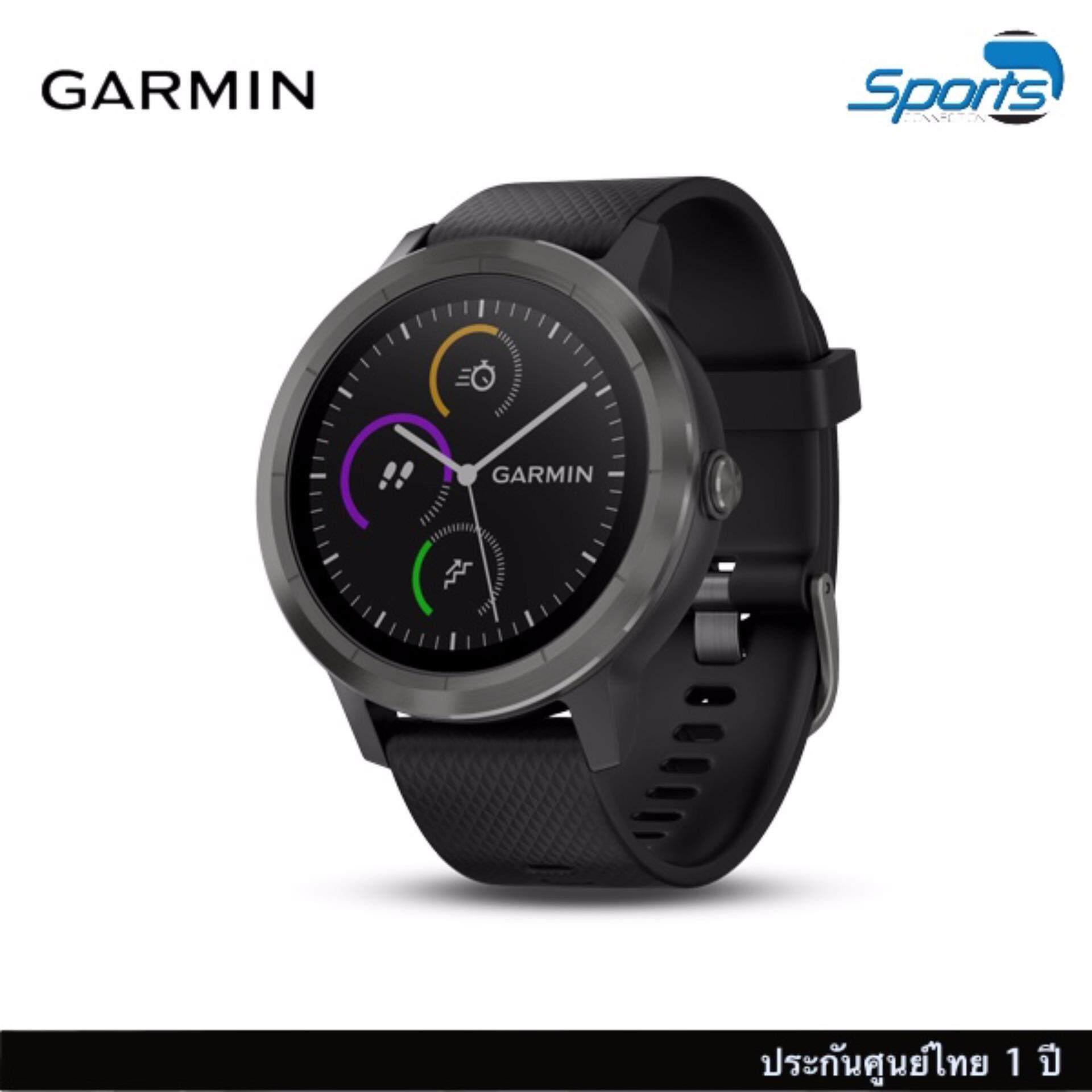 พะเยา Garmin  vivoactive 3 GPS Smartwatch ที่วัดอัตราการเต้นหัวใจที่ข้อมือ