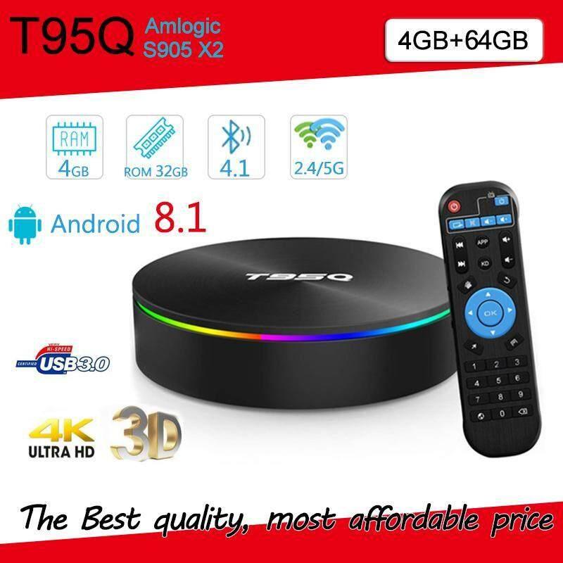 นครพนม Android smart tv box รุ่นใหม่ล่าสุด T95Q แรม4 รอม64 CPU S905X2 แรงที่สุด Bluetooth Wifi 5GHz รองรับLAN1 000MB