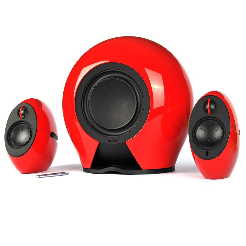 ยี่ห้อนี้ดีไหม  ขอนแก่น Edifier E235 Luna E 2.1 Speaker (Red)