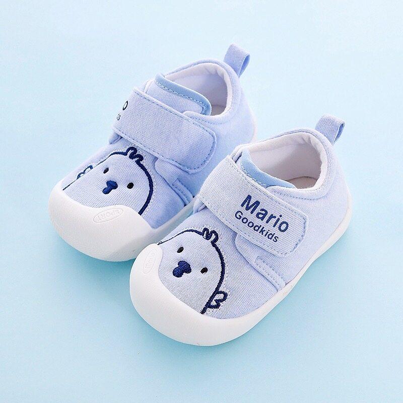 ร้องเท้าเด็กทารกลายการ์ตูน รองเท้าเด็กหัดเดินกันลื่นระบายอากาศรองเท้าผ้าใบ222