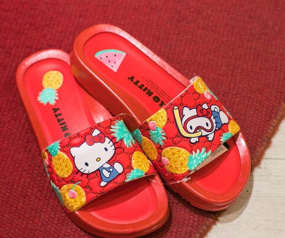 สุดยอดสินค้า!! รองเท้าแตะ SANRIO ซานริโอ รองเท้าแตะผู้หญิง รองเท้าแตะแบบสวม ลิขสิทธิ์แท้ # เก็บเงินปลายทาง # จัดส่งฟรี Kerry