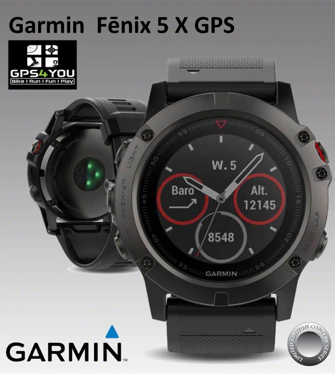 สอนใช้งาน  ชัยนาท Garmin Fēnix 5 X Sapphire Multisport GPS Mapping สินค้าพร้อมส่ง  (Instruction Manual in Thai & English)  (คู่มือภาษาไทยและอังกฤษ)