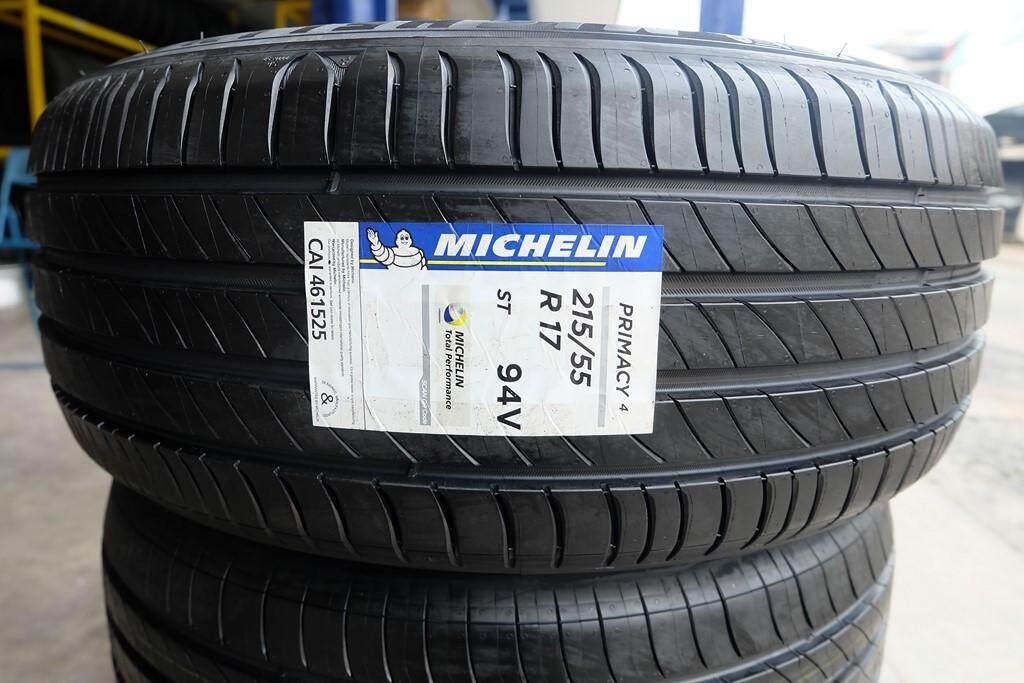 ประกันภัย รถยนต์ 2+ แม่ฮ่องสอน MICHELIN Primacy 4 Size 215/55 R17จำนวน (4เส้น) แถมจุ๊บลมฟรี