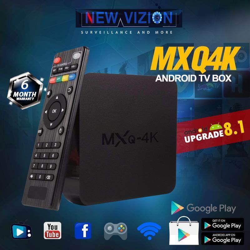 สินเชื่อบุคคลซิตี้  ตาก MXQ4K กล่องแอนดรอยด์รุ่นใหม่ อัปเกรดแอนดรอยด์ 8.1 เล่นเน็ต เล่นเฟส ยูทูป ดูหนัง ฟังเพลง เล่นเกม ดูฟรีทีวีออนไลน์ ลงแอพได้  เชื่อมต่อไวไฟ และ สายแลน  รองรับ USB เชื่อมต่อคีย์บอร์ด เม้าส์ RockChip RK3229 Quad Core แรม 1G รอม 8GB