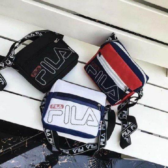 กระเป๋าสะพายพาดลำตัว นักเรียน ผู้หญิง วัยรุ่น กำแพงเพชร กระเป๋าสะพายข้าง FILA Linear mini cross bag