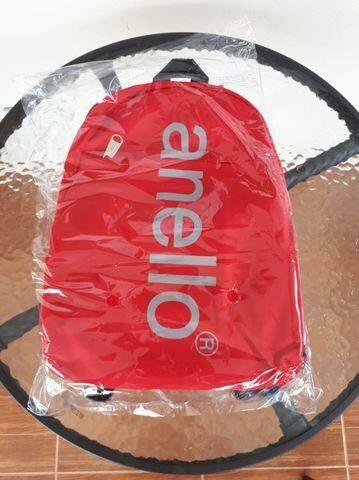 การใช้งาน  อุดรธานี กระเป๋าเป้ anello สีแดงรุ่น Big Logo Print Mini Daypack ของใหม่แท้จากแบรนด์