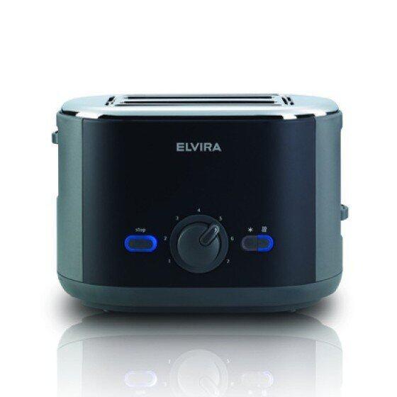 ยี่ห้อไหนดี  กาญจนบุรี Elvira Brooklyn Toaster เครื่องปิ้งขนมปัง - สีดำ