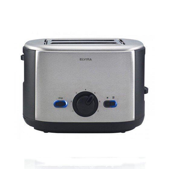 ยี่ห้อไหนดี  กาฬสินธุ์ ELVIRA Brooklyn Toaster เครื่องปิ้งขนมปัง - สีเงิน