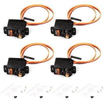EMAX ES08MAII 4pcs 12g Mini Metal Gear Analog Servo Upgrade for 450 RC Helicopter Airplane 1.8kg