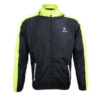 เสื้อแจ็ตเก็ตป้องกันลม ฝน Speed Dry Jacket UV Protection + Water Proof (สีดำแถบเขียว)