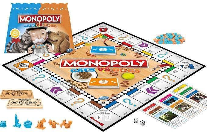 HASBRO ORIGINAL MONOPOLY CATS VS DOGS BOARD GAME เกมส์เศรษฐี บอร์ดเกมส์  โมโนโพลี่