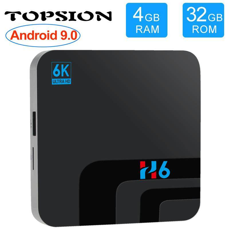 การใช้งาน  พิษณุโลก 【H6】ดูฟรี ไม่มีรายเดือน H6 Topsion Android 9.0 Smart TV BOX 4G DDR3 32G EMMC ROM Set Top Box 6K 3D H.265 Wifi media player TV Receiver TV BOX