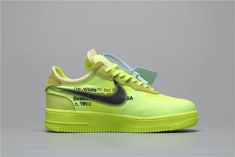 _NIKE _AIR FORCE 1 Men's Skate Shoes Sneakers Increased Height Comfortable Wearable Fluorescent Green OG Joint Name AO4606 700 40 45