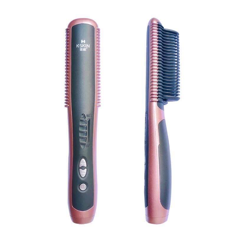 แปรงสีฟันไฟฟ้า ทำความสะอาดทุกซี่ฟันอย่างหมดจด หนองคาย 2 In 1 Electric Curling Straightening Irons Brush Anti Scald PTC Fast Heating Safe Ceramic Hair Straightener Comb KD388A SH Store