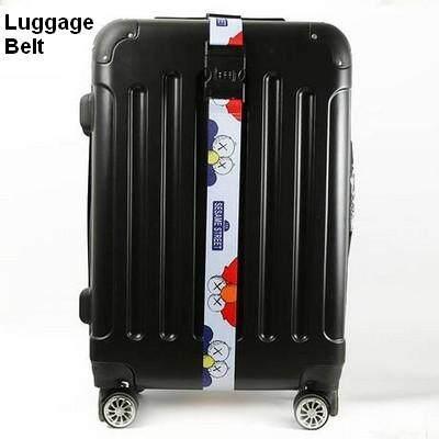 ขายดีมาก! ส่งฟรี kerry !!! ขาย Luggage Belt สายรัดกระเป๋าเดินทาง สายคาด สายล็อค มีรหัสล็อคบนสาย เซซามี สตรีท สีขาว