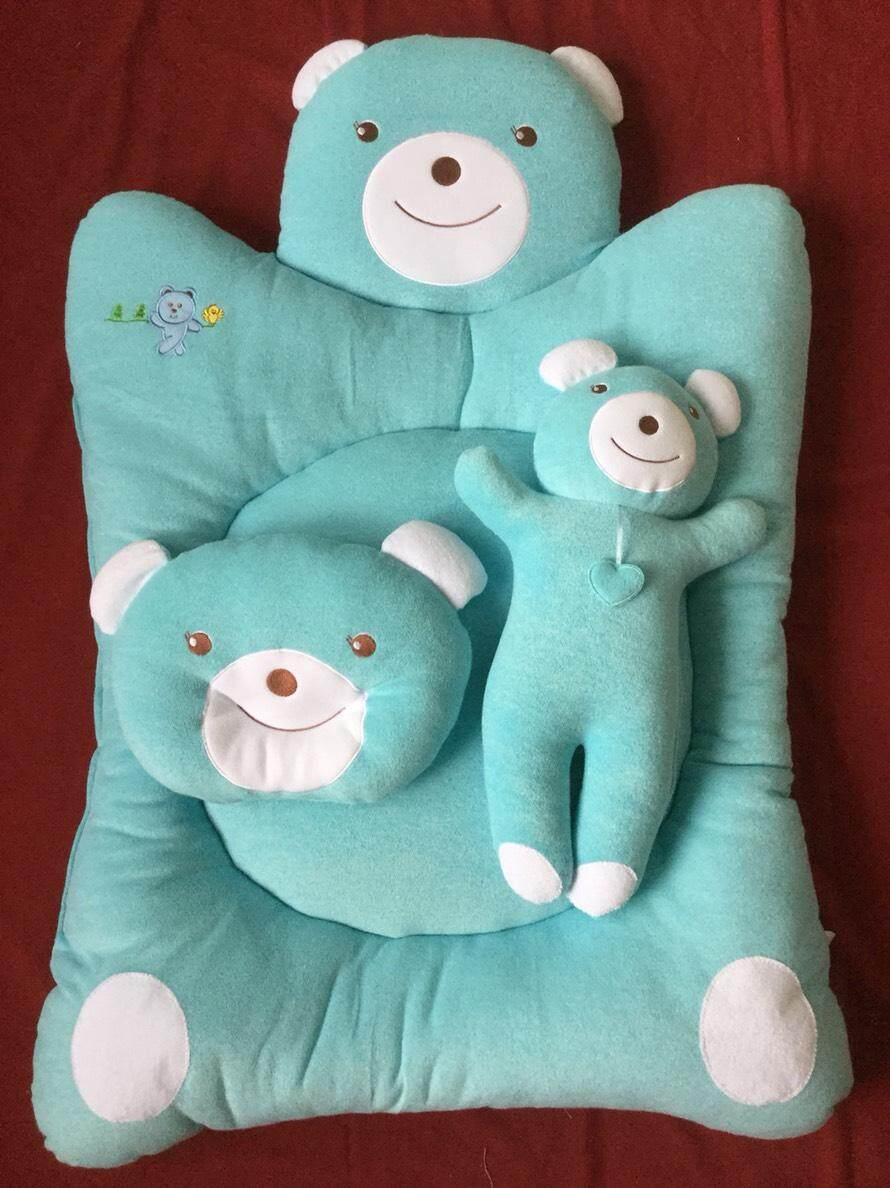 ขายดีมาก! ที่นอนเด็กแรกเกิด ที่นอนเด็กรังผึ้ง ขนาดใหญ่ ที่นอนผ้าขนหนูเนื้อนุ่ม สีหวานสดใส ลายน่ารัก หมีน้อย สีเขียว จัดส่งทาง kerry