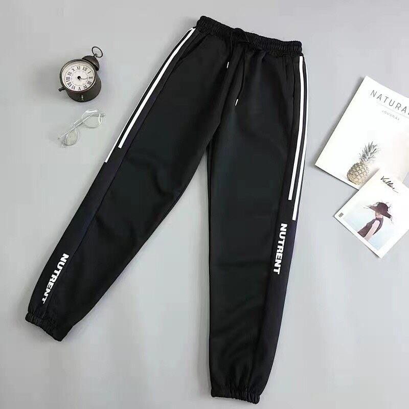 BLO NEW 2021 กางเกงขายาว เอวยางยืด แต่งแถบข้าง มีกระเป๋าข้าง ผ้านุ่มใส่สบายสไตล์เกาหลี รุ่น-908