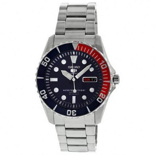 ยี่ห้อไหนดี  ระนอง Karnvera Shop Seiko นาฬิกาข้อมือชาย SNZF15J1 Dark Blue Dial Men Watch