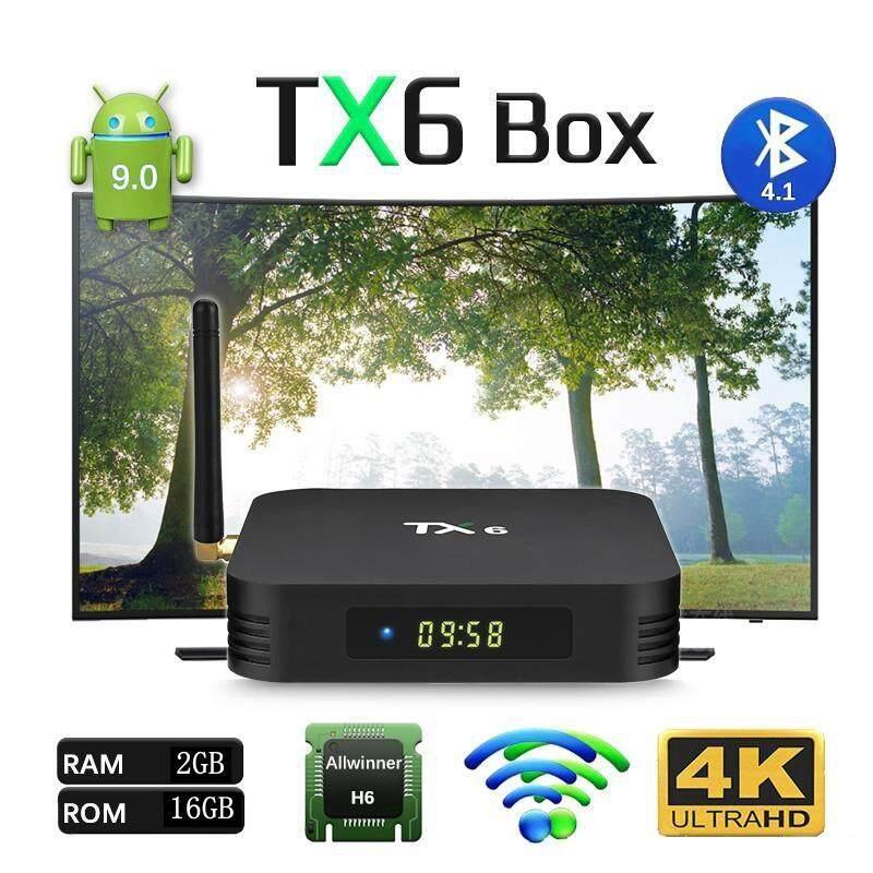 ทำบัตรเครดิตออนไลน์  กำแพงเพชร Tanix Tx6 Android smart tv box 2019 แรม 2GB ddr3 / พื้นที่เก็บข้อมูล 16GB Android 9.0