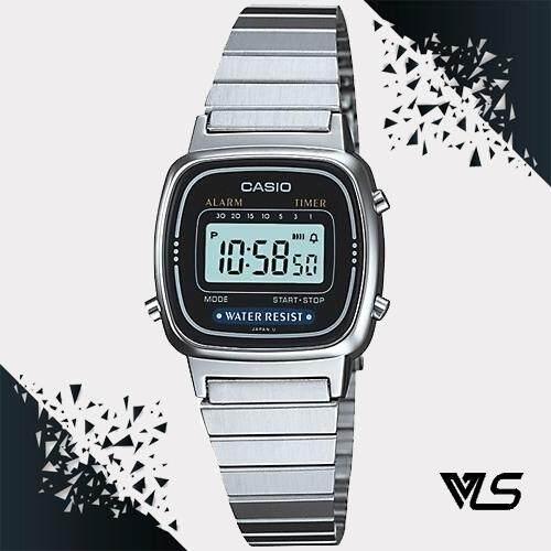 Casio นาฬิกาผู้หญิง สีเงิน สายสเเตนเลส รุ่น LA670WA-1DF